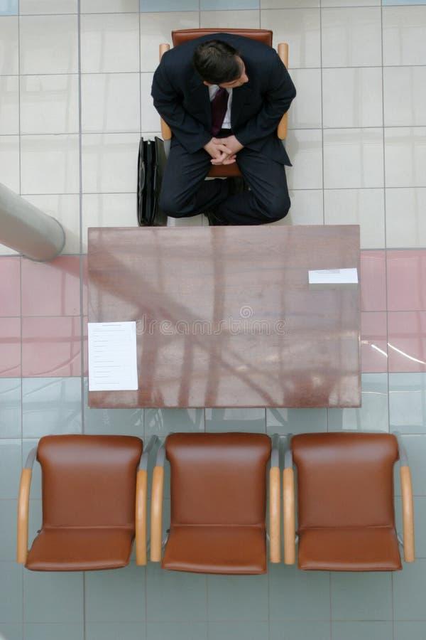 Het wachten op gesprek 2 stock foto