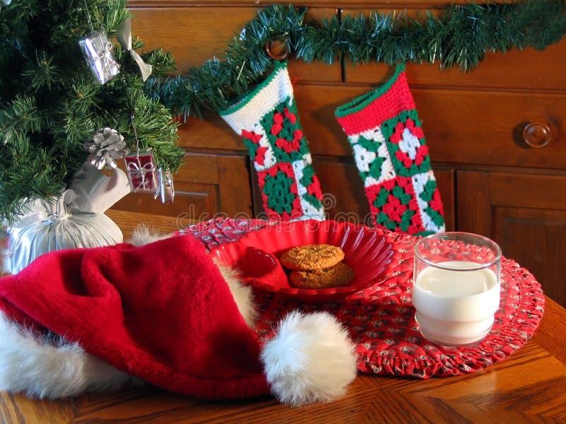 Het wachten op Kerstman royalty-vrije stock afbeeldingen