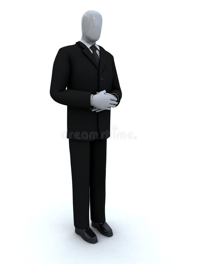 Het wachten van de zakenman royalty-vrije illustratie
