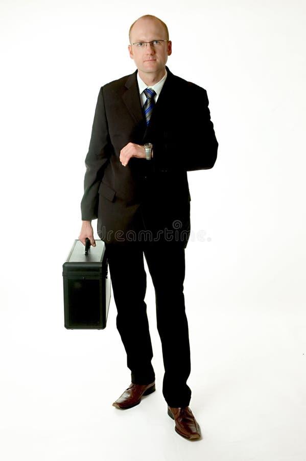 Het wachten van de zakenman stock afbeeldingen