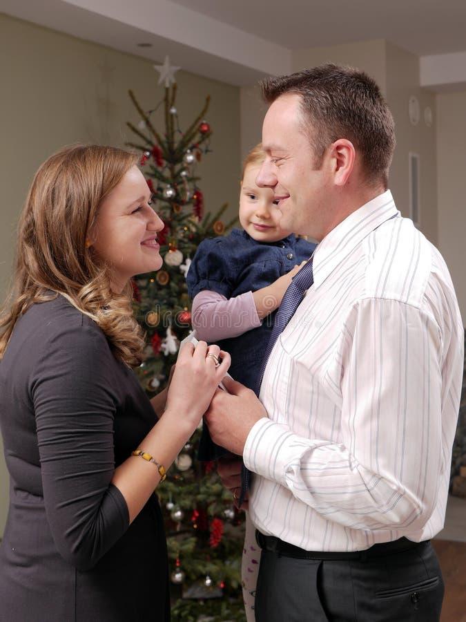 Het wafeltje van de kerstavond het delen stock foto