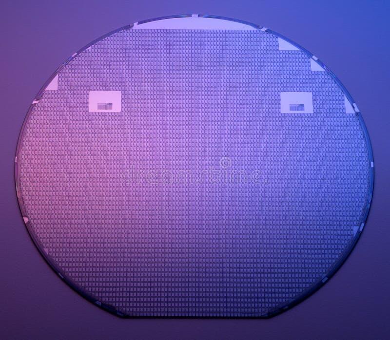 Het wafeltje van het silicium stock foto's