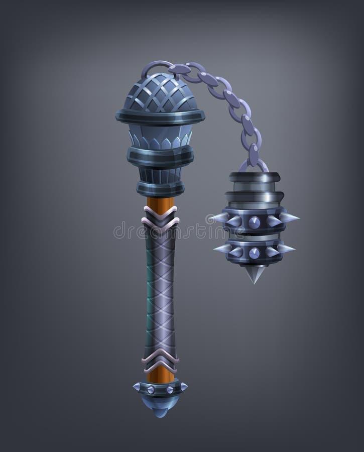 Het wapen van de fantasiefoelie voor spel of kaarten royalty-vrije illustratie