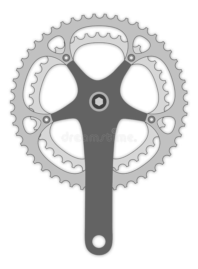 Het wapen van de fiets cranck royalty-vrije illustratie