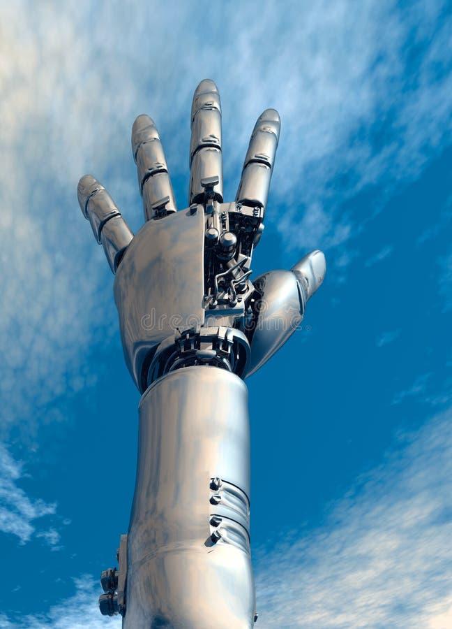 Het wapen van de robot royalty-vrije illustratie