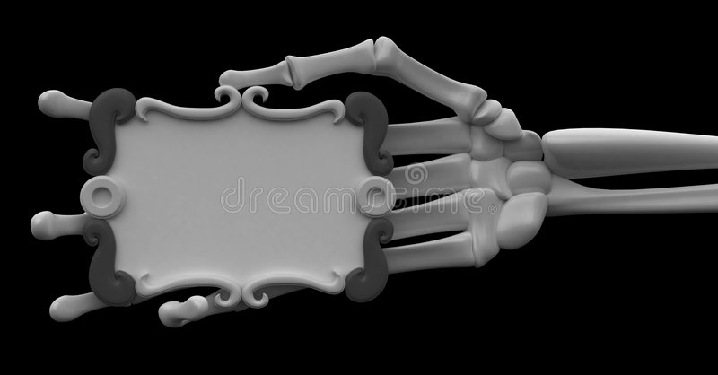 Het Wapen van het skelet, het Grijze Teken van de Rol stock illustratie
