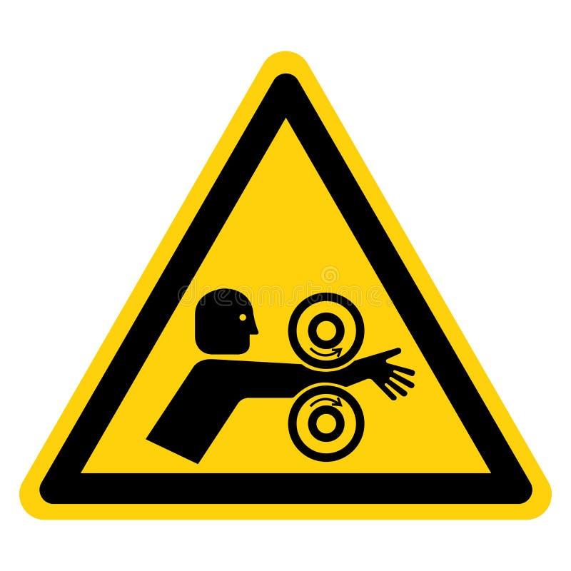 Het wapen verwart Rollen het Juiste Symboolteken, Vectorillustratie, op Wit Etiket Als achtergrond isoleert EPS10 stock illustratie