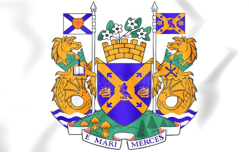 Het wapenschild van Halifax, Canada royalty-vrije illustratie