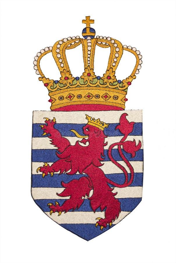 Het Wapenschild Van Luxemburg Royalty-vrije Stock Foto