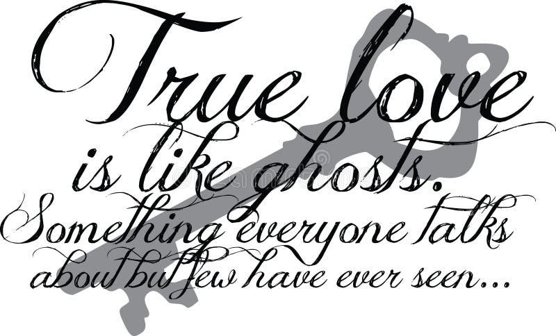 Het ware Citaat van de Liefde met sleutel royalty-vrije illustratie
