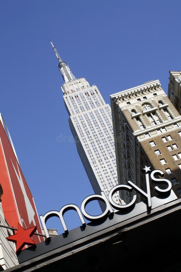 Het Warenhuis en het Empire State Building van Macy royalty-vrije stock foto