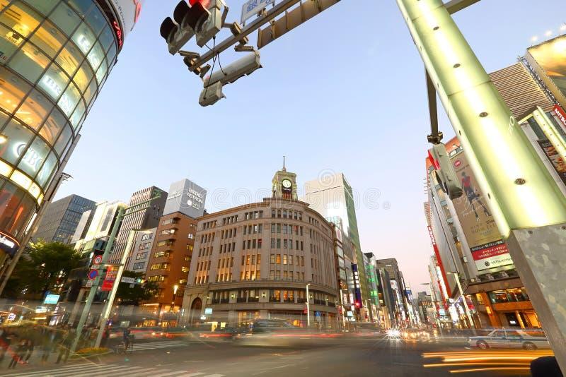 Het Warenhuis van Wako In Ginza, Tokyo, Japan royalty-vrije stock afbeeldingen