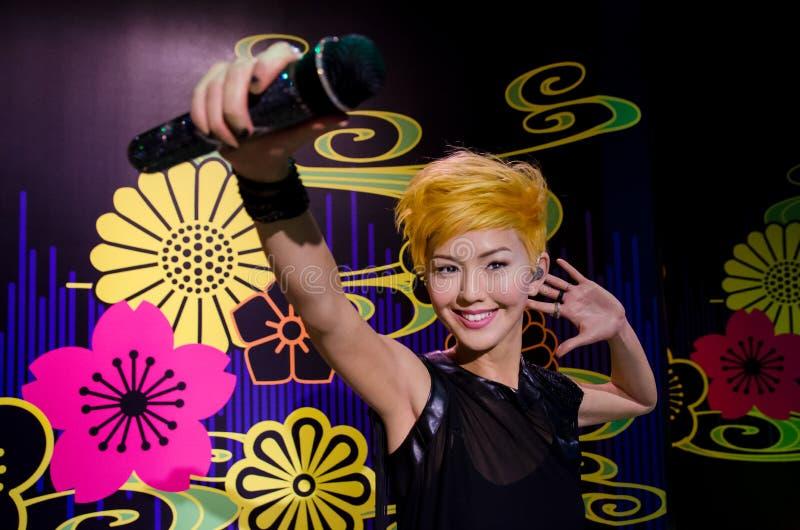 Het wascijfer van Stefanie Sun in Mevrouw Tussauds Singapore royalty-vrije stock foto
