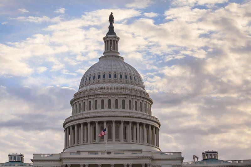 Het Washington DC van de het Capitoolkoepel van Verenigde Staten stock afbeelding