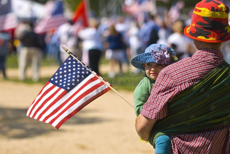 Het Washington DC van het Protest van de oorlog stock foto
