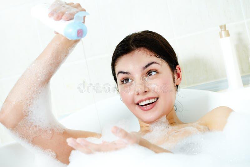 Het wassen in bad stock afbeelding