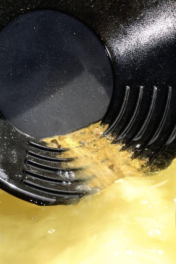 Het wassen van het goud stock fotografie