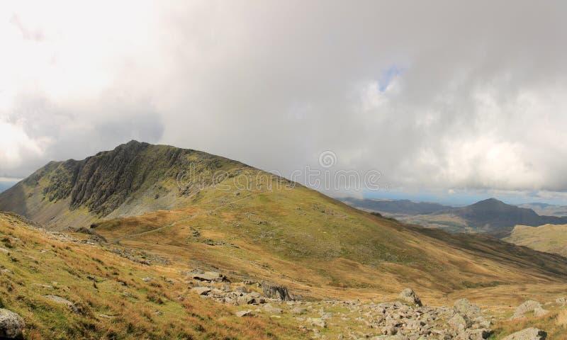 Het Water Cumbria van Dow Crag en van Geiten royalty-vrije stock afbeelding