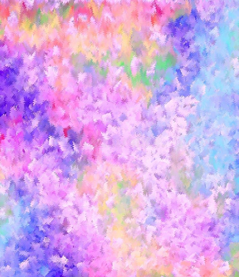 Het water kleurt het schilderen stijl abstracte achtergrond royalty-vrije illustratie