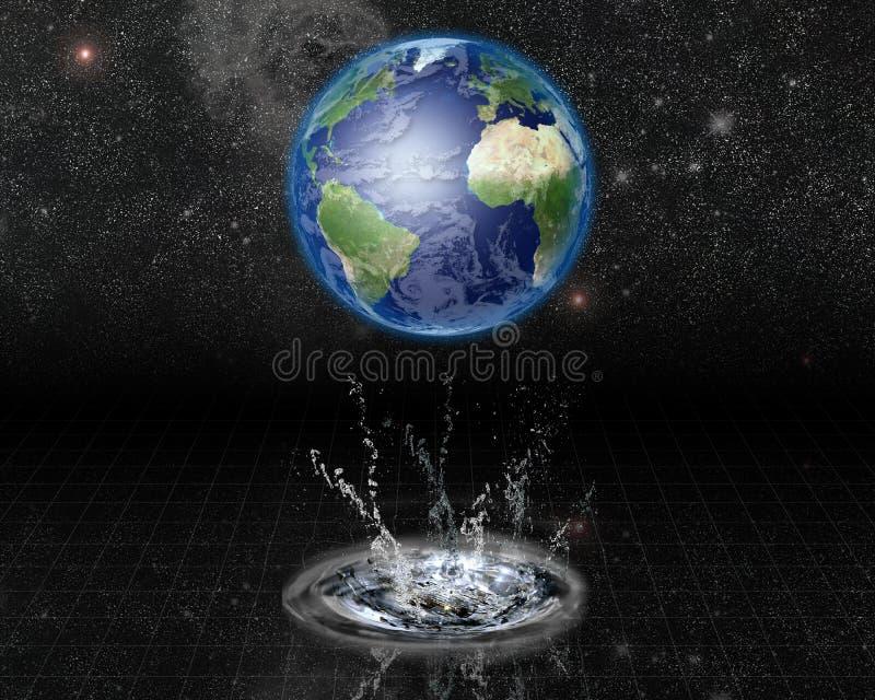Het Water van de aarde komt te voorschijn stock illustratie