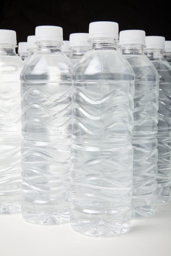 Het water van de fles stock foto