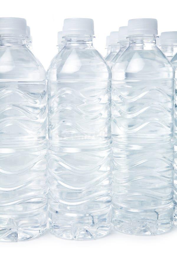 Het water van de fles stock afbeeldingen