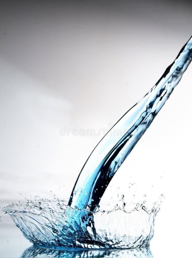 Het water van de plons royalty-vrije stock afbeelding