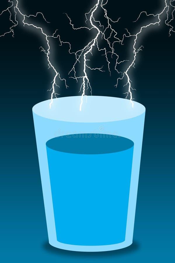 Het water van het onweersglas vector illustratie