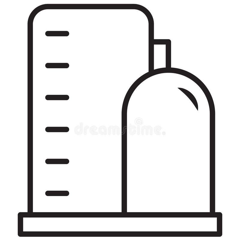 Het waterafval, boiler Geïsoleerd Vectorpictogram kan gemakkelijk worden gewijzigd of uitgeven royalty-vrije illustratie
