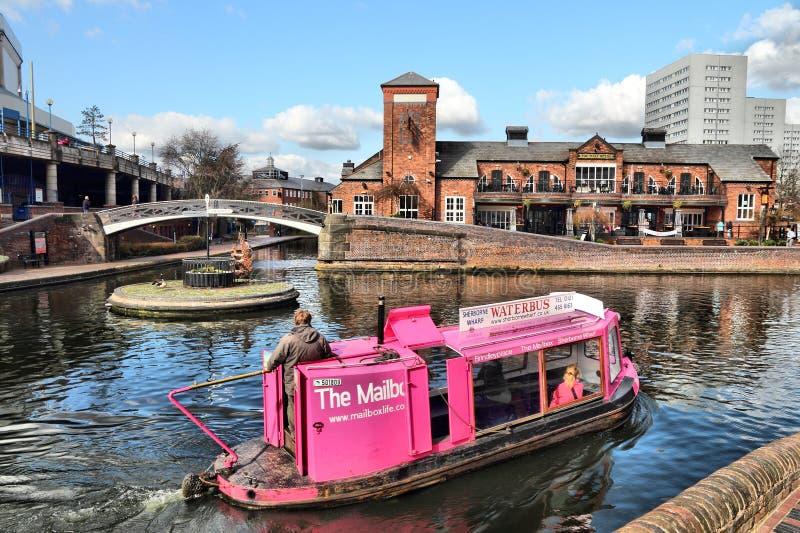 Het waterbus van Birmingham stock foto