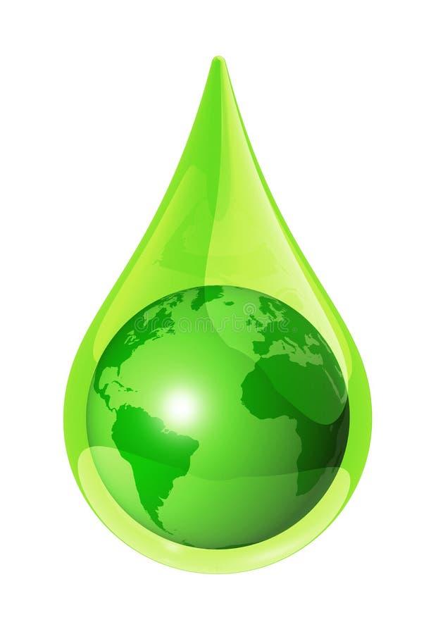 Het waterdaling van de aarde stock illustratie