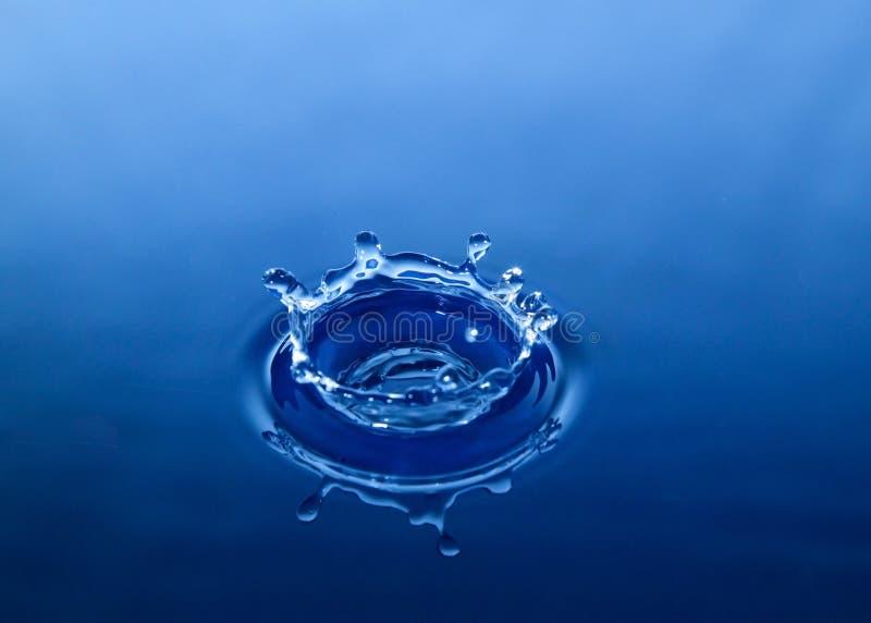 Het waterdaling van de kroon royalty-vrije stock afbeelding