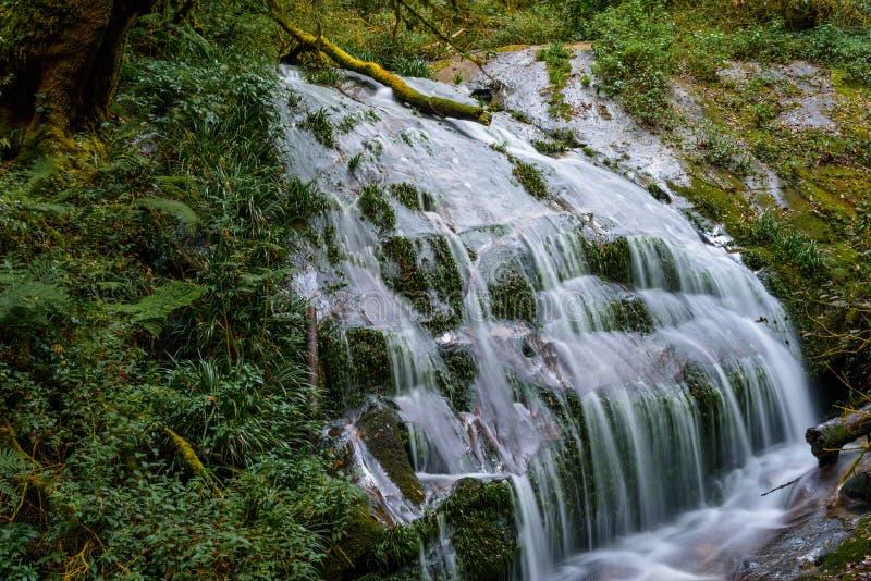 Het waterdaling van Kiwmae pan Inthanon, Chiangmai, Thailand stock afbeeldingen