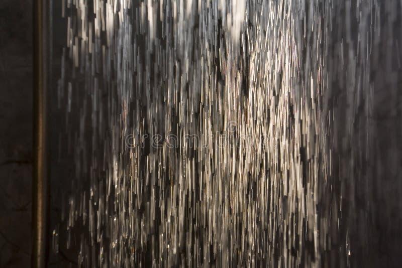 Het waterdruppeltjes van de douche royalty-vrije stock foto