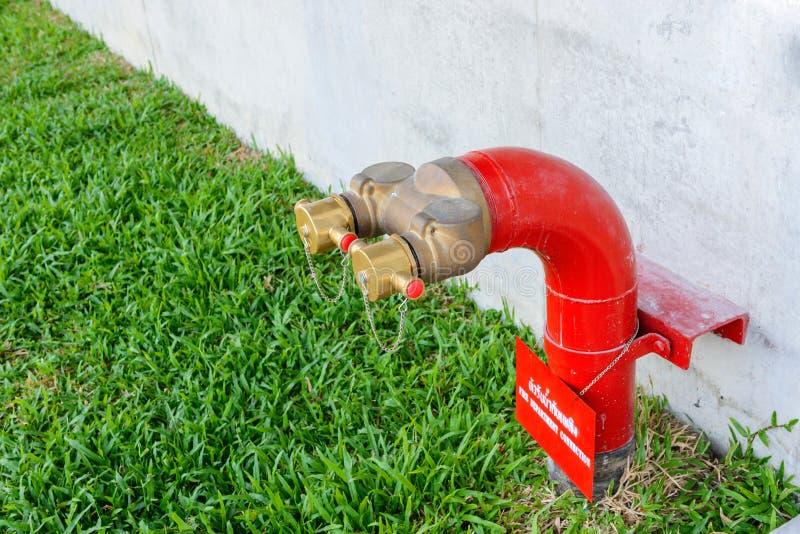 Het waterklep van brandkraan diverse twee afzet royalty-vrije stock foto
