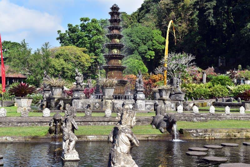 Het Waterpaleis van Tirtagangga in Bali royalty-vrije stock foto