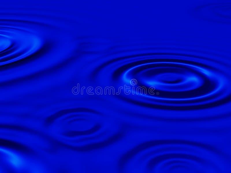 Het waterrimpeling van de regen stock illustratie