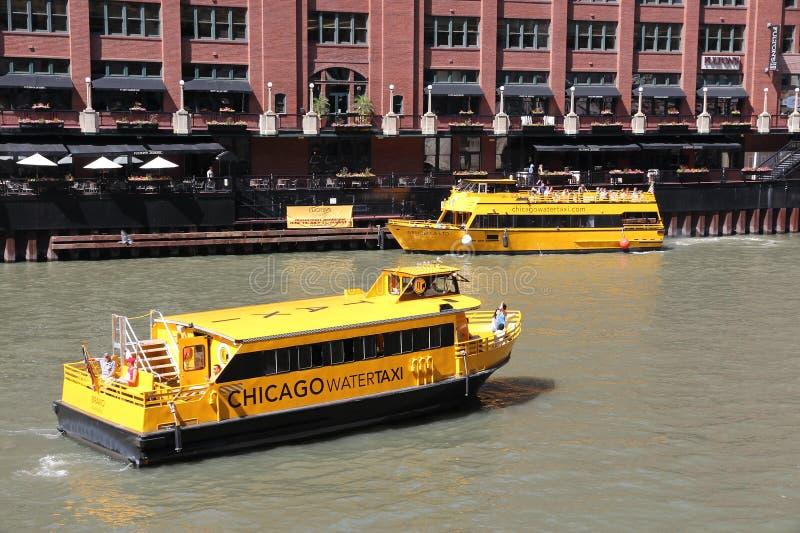 Het Watertaxi van Chicago stock foto's