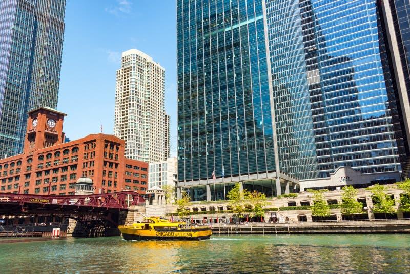 Het Watertaxi van Chicago royalty-vrije stock afbeeldingen