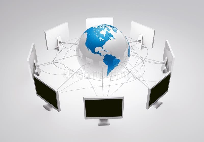 Het Web Internet verbindt mensen rond de wereld vector illustratie