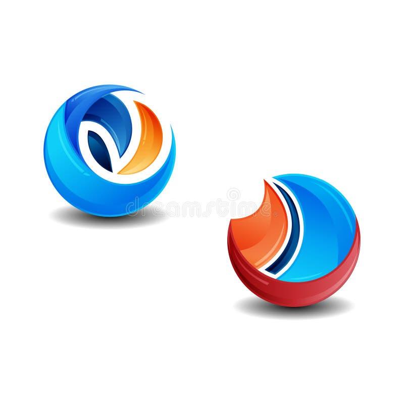 Het Web van de technologiebaan belt embleemontwerp Vector het embleemontwerp van de cirkelring Het abstracte malplaatje van het c vector illustratie