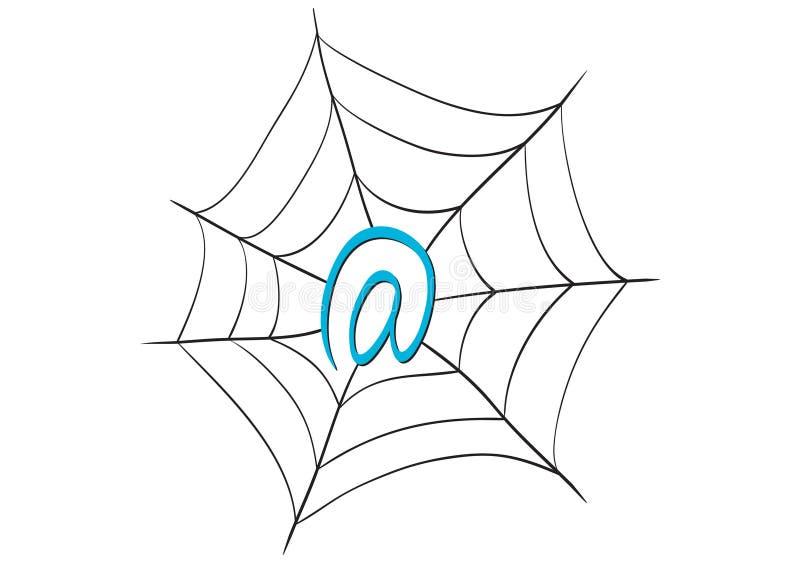 Het Web van Internet stock illustratie