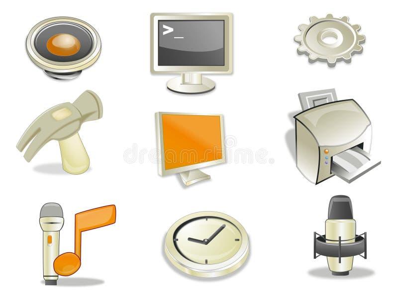 Het Web van pictogrammen stock illustratie