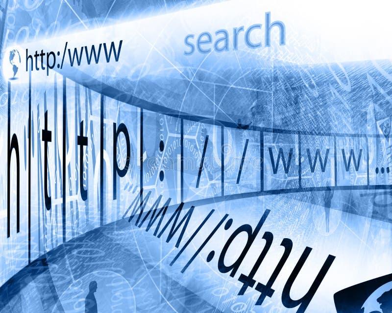 Het Web zoek stock illustratie