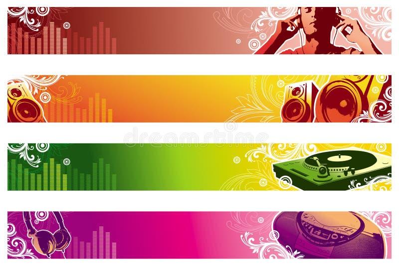 Het Webbanners van de muziek royalty-vrije illustratie