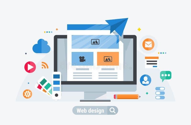 Het Webontwerp bouwt royalty-vrije illustratie