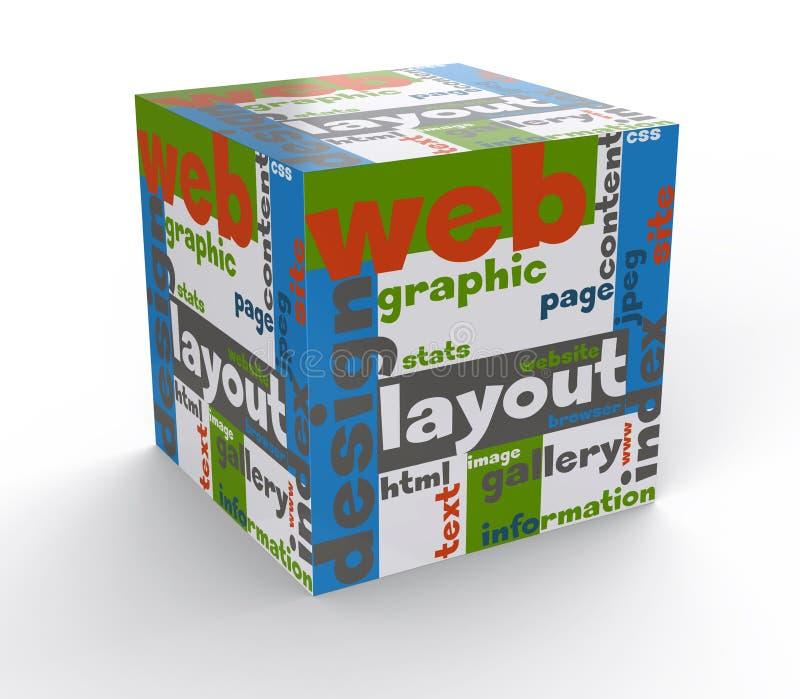 Het Webontwerp van de kubus royalty-vrije illustratie