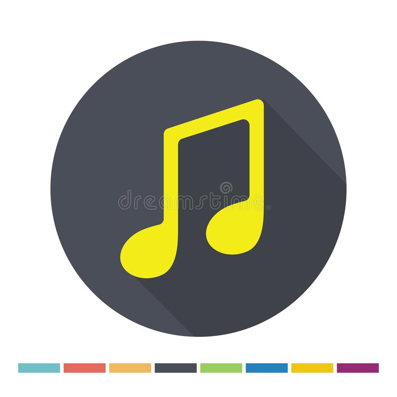 Het Webpictogram van de muzieknota stock illustratie