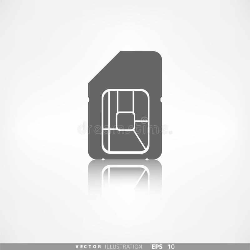 Het Webpictogram van de Simkaart toepassingsknoop royalty-vrije illustratie