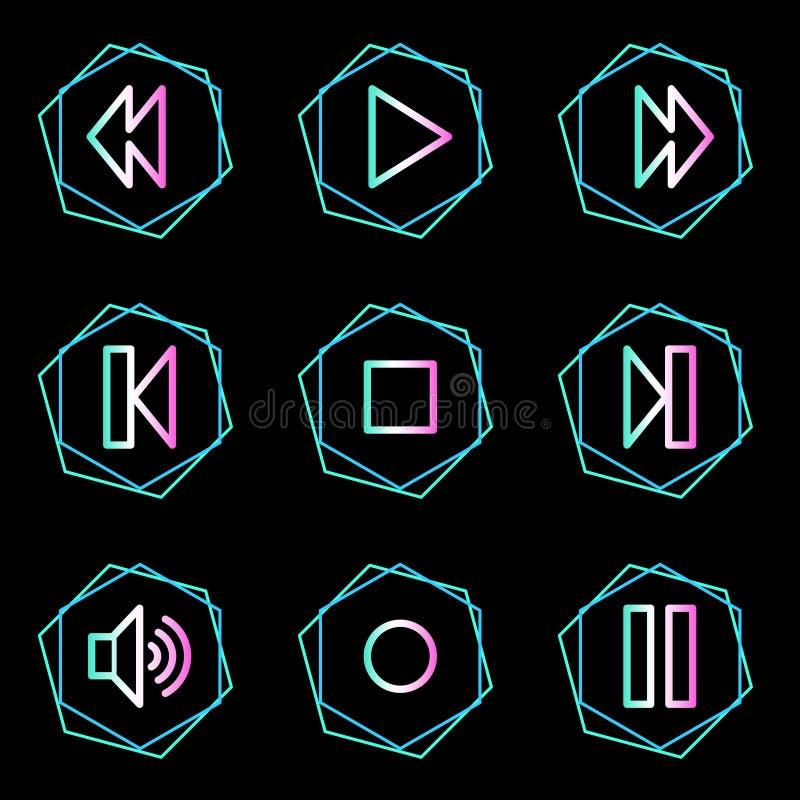 Het Webpictogrammen van de walkman vector illustratie